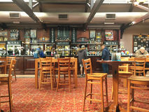 English pub interior. Interior of a traditional wetherspoon pub in Northwich Cheshire UK Royalty Free Stock Image