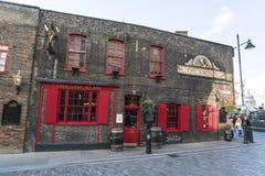 English Pub at River Thames - London England  UK Royalty Free Stock Photo