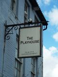 English Pub Sign - The Playhouse. An English Pub sign - The Playhouse - DJ & Live Entertainment Stock Images