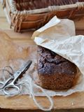 English pumpkin-chocolate cake Royalty Free Stock Photo