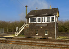 English Railway Signal Box Stock Image