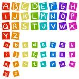 English rainbow vector handwritten alphabet Stock Images