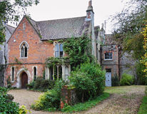 English Rectory. Covered in climbing plants Royalty Free Stock Photos
