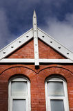 English red bricks house from one side, close up, Levenshulme Ma royalty free stock photos