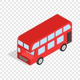 English red bus isometric icon Stock Image