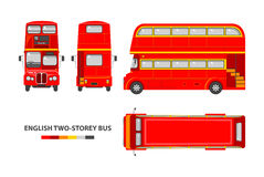 English red double decker bus Stock Image