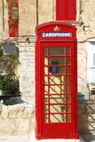 English red phone booth in Valletta, Malta Stock Images