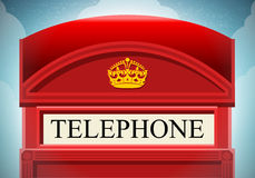 English Red Telephone Cabin Stock Images