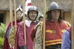 English reenactor soldiers Royalty Free Stock Photos