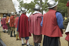 English reenactor soldiers Stock Photography