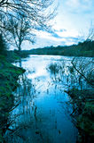 English river in winter Royalty Free Stock Photos
