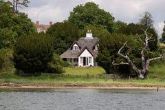 English Riverside Cottage Stock Photos