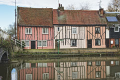 English Riverside Cottages Stock Image