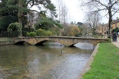English riverside pathway and bridge Stock Photos