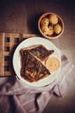 English roasted flounder Stock Photography