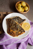 English roasted flounder Stock Photo