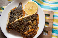 English roasted flounder Stock Image