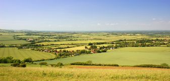 English rolling countryside Royalty Free Stock Photography