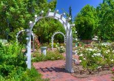 English Rose Garden. Entrance to an English Rose Garden Royalty Free Stock Photography