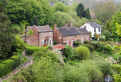 An English Rural Hamlet set in a wooded Valley. A Rural Hamlet in Shropshire England set in a Wooded Valley stock photography
