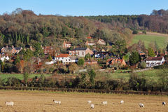 An English Rural Hamlet in Winter Sunshine Royalty Free Stock Images