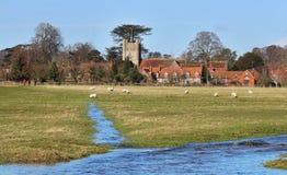 An English Rural Hamlet in Winter Sunshine Stock Photo