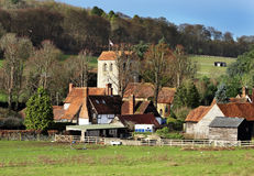 An English Rural Hamlet in Winter Sunshine Royalty Free Stock Photo