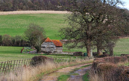 An English Rural Landscape in the Chiltern Hills Royalty Free Stock Images