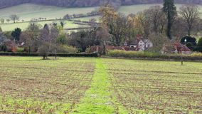 An English Rural Landscape in the Chiltern Hills Royalty Free Stock Photography