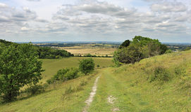 An English Rural Landscape in the Chiltern Hills Stock Photo