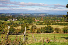 An English Rural Landscape in early Autumn Stock Photo