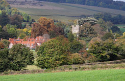 An English Rural Landscape in early Autumn Royalty Free Stock Images