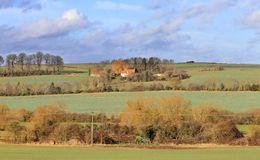 An English Rural Landscape with Farm Stock Image