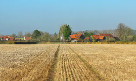 An English Rural Landscape with Farmhouse Stock Photos