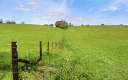 An English Rural Landscape with Hamlet Stock Photo