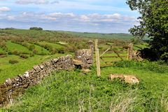 An English Rural Landscape in the Peak District Royalty Free Stock Images
