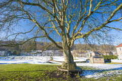 English rural village landscape in the winter Stock Photo