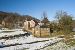 English rural village landscape in the winter Royalty Free Stock Images