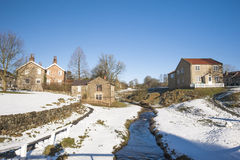 English rural village landscape in the winter Royalty Free Stock Image