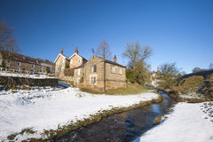 English rural village landscape in the winter Stock Image