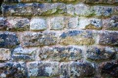 English Rustic Stone Wall Stock Photo