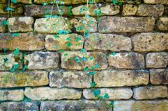 English Rustic Stone Wall Royalty Free Stock Images