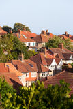 English's style house. In a small town near sea Royalty Free Stock Image