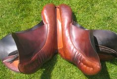 English saddle stock photo