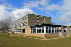 English school building. Exterior of English secondary school building, Scarborough Royalty Free Stock Photo