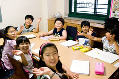 English school in South Korea Royalty Free Stock Image