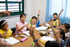 English school in South Korea royalty free stock images