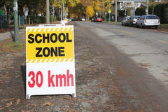 English School Zone Sign stock photo