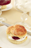 English scone with cream and jam Royalty Free Stock Images