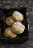 English scones for Breakfast in a vintage tray Royalty Free Stock Images